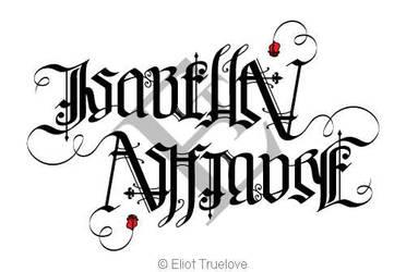 Isabella Ashmore Ambigram