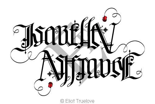 Isabella Ashmore Ambigram by TrueLovePrevails