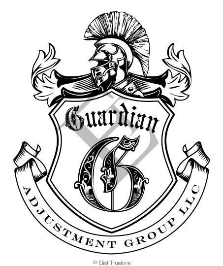 Guardian Adjusters Logo Line Art
