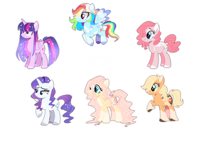 Mane Six  (NGAS) by Heyyasyfox