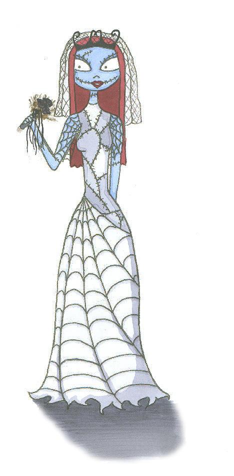 Sally in her wedding dress by IrishAficionado on DeviantArt