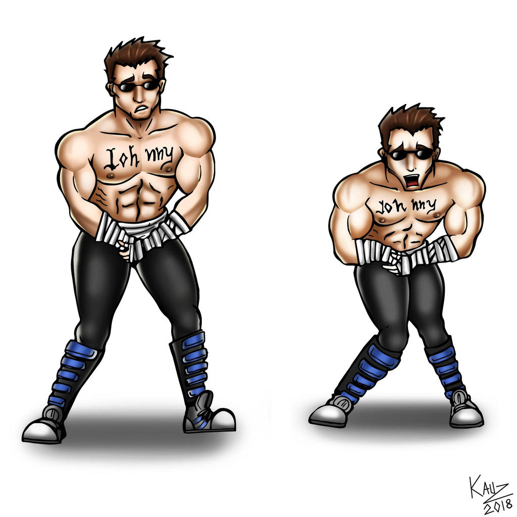Little secuence of ballbusting Johnny cage by KauzerBara