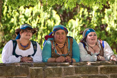 Ladies at the garden wall