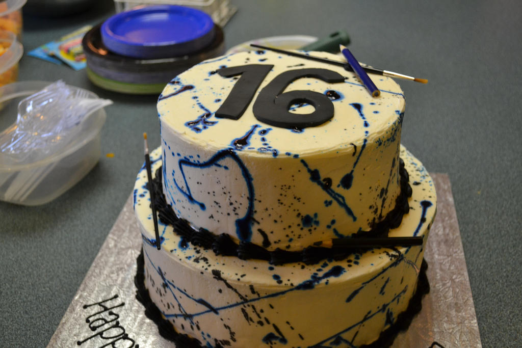 Sweet 16 Birthday Cake By Lets Fight Darkness On Deviantart