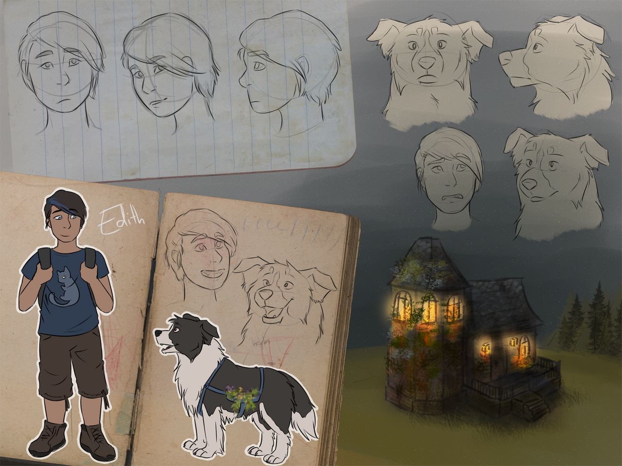 Malka and Jess - Character Design by ShadowOfTheMeadow