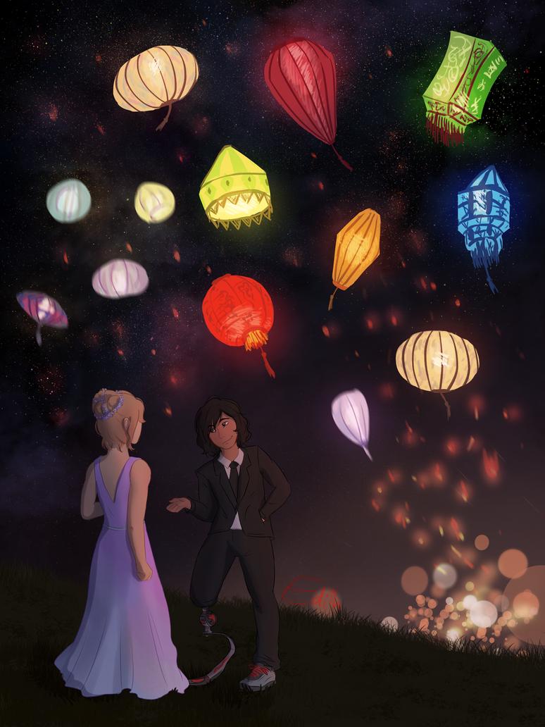 Date with Lanterns by ShadowOfTheMeadow