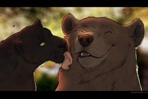 Bagheera and Baloo by Fetchke