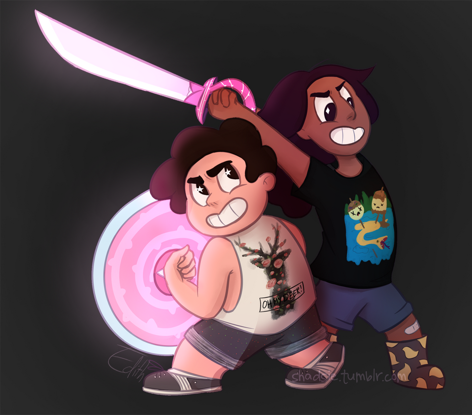 Little fanart for my favorite show, Steven Universe! I really love Steven and Connie's dynamic! On Tumblr: shadsie.tumblr.com/post/164863…