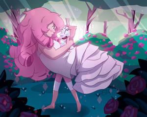 Rose x Pearl fusion - take two