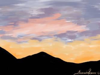 Sunset sketch. by AleksandraHope