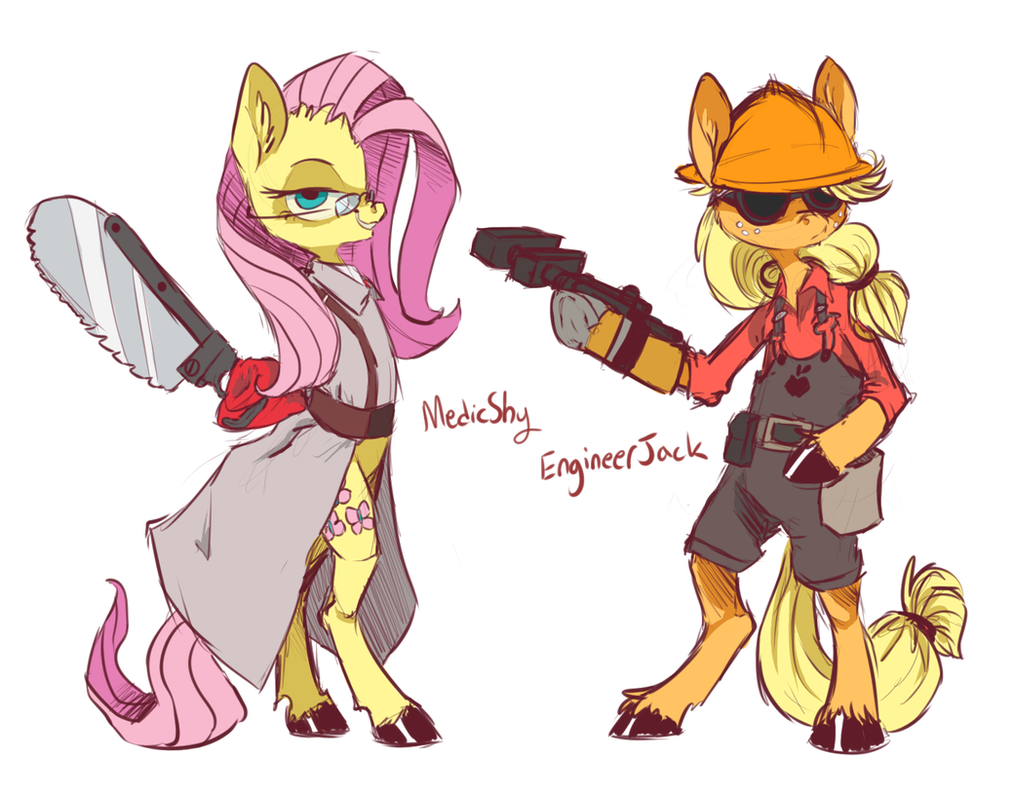 MedicShy and EngineerJack by 8-Xenon-8