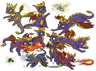 Spyro the Dragon by 8-Xenon-8