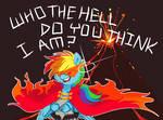 Kamina Rainbow Dash