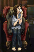 Rumbelle in a Chair by iesnoth