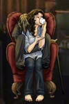 Rumbelle in a Chair