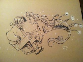 Jim/Ariel IN SPAAAACE by iesnoth
