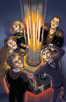 Inside the TARDIS colored