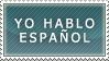 Stamp - I speak spanish