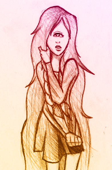 Paperchainproject sketch round 15 CYNTHIA by NamelessObsidian22