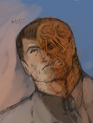 Two-Face Colored by Michael-McDonnell