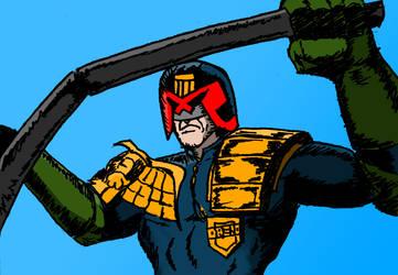 Judge Dredd Riding by Michael-McDonnell