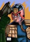 Judge Dredd Lawman of The Future by Michael-McDonnell