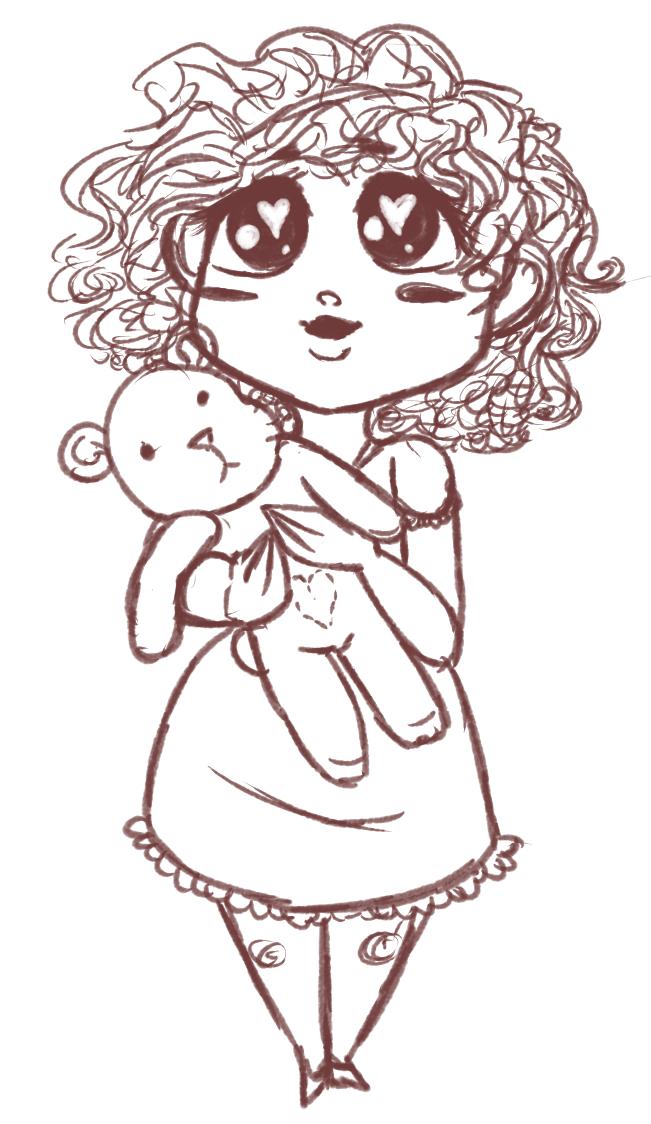 Little Girl Sketch by SnarkyButt