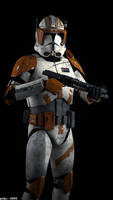 Commander Cody joins the battle... by Erik-M1999