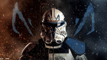 Captain Rex joins the battle... by Erik-M1999
