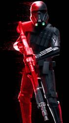 Death Trooper joins the battle... by Erik-M1999