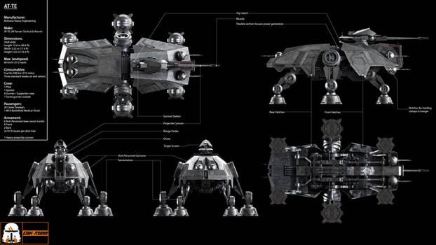 AT-TE Blueprint