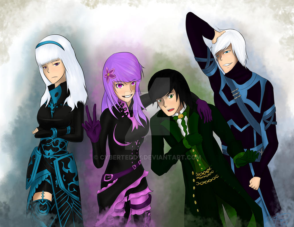 Guild Wars 2 Anime Characters : Guild wars team by cyberteddy on deviantart