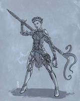 Lyra - Warlock - WIP by Narthyxa