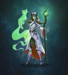 Druid and Fox Spirit - Full color