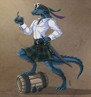 Angus - Dread Pirate Lizarkfolk by Narthyxa