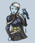 Verica and  Errin - Sylph Mage and Familiar