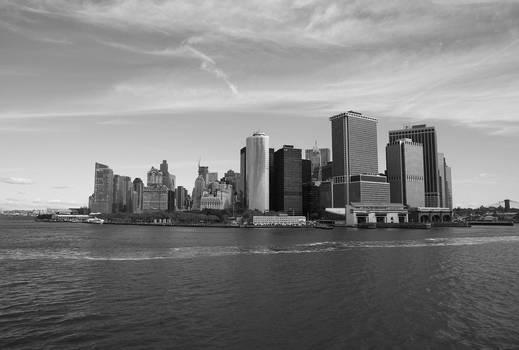 new york, financal skyline