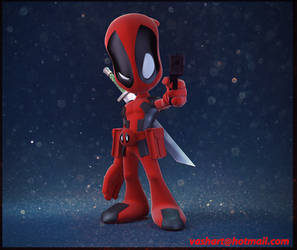 baby deadpool by ashprime