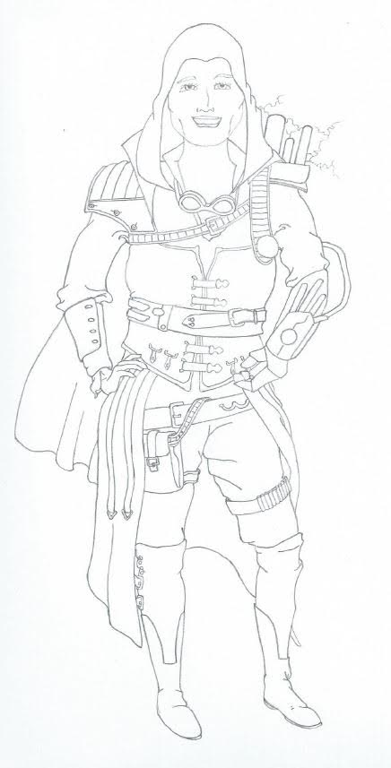 Mom Steampunk Assassin Sketch by Chuymage