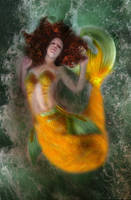 Mermaid Photoshop test by flames-of-monki