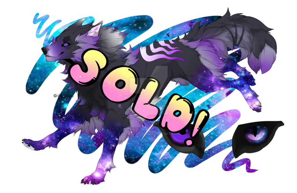 Galaxy wolf adopt  !SOLD! by MoonWolf2020