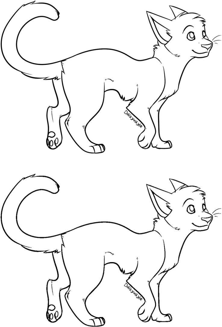 Line Art Group : Cat lineart ms paint friendly by daisyvayle on deviantart