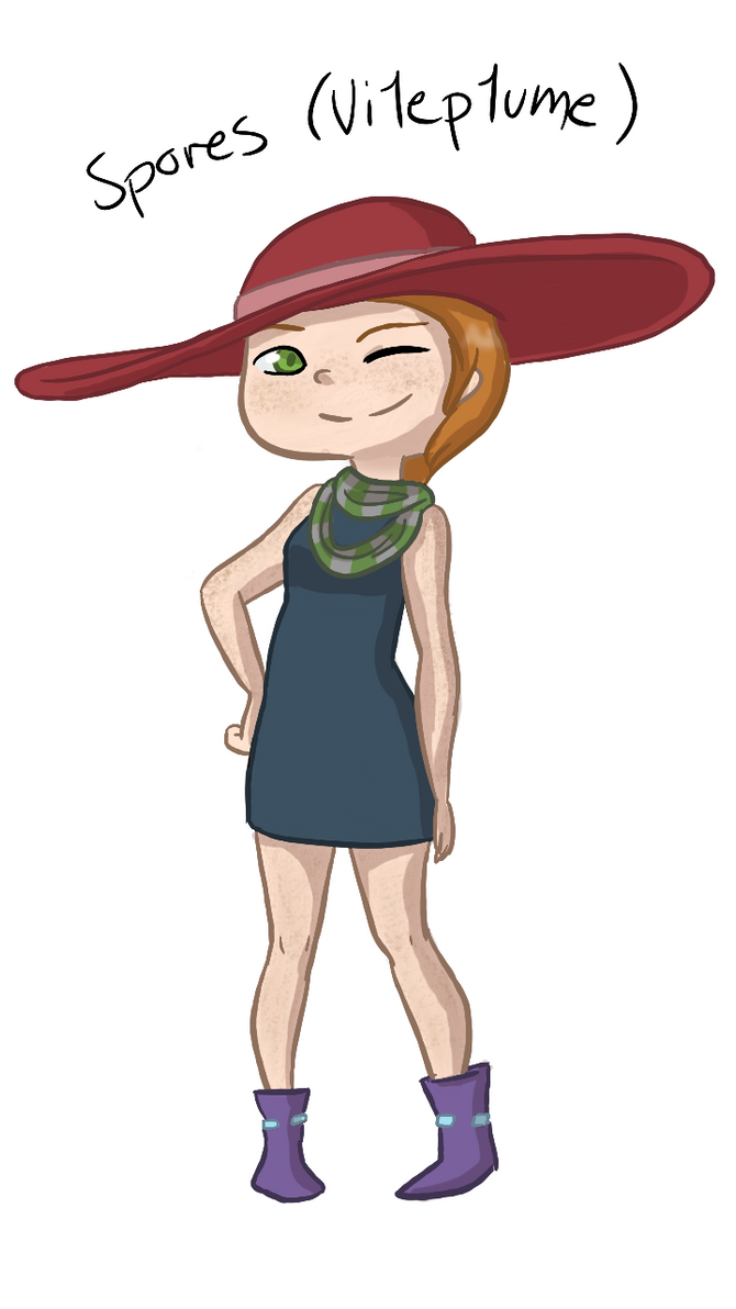 Updated Spores Gijinka! by MeowMix72