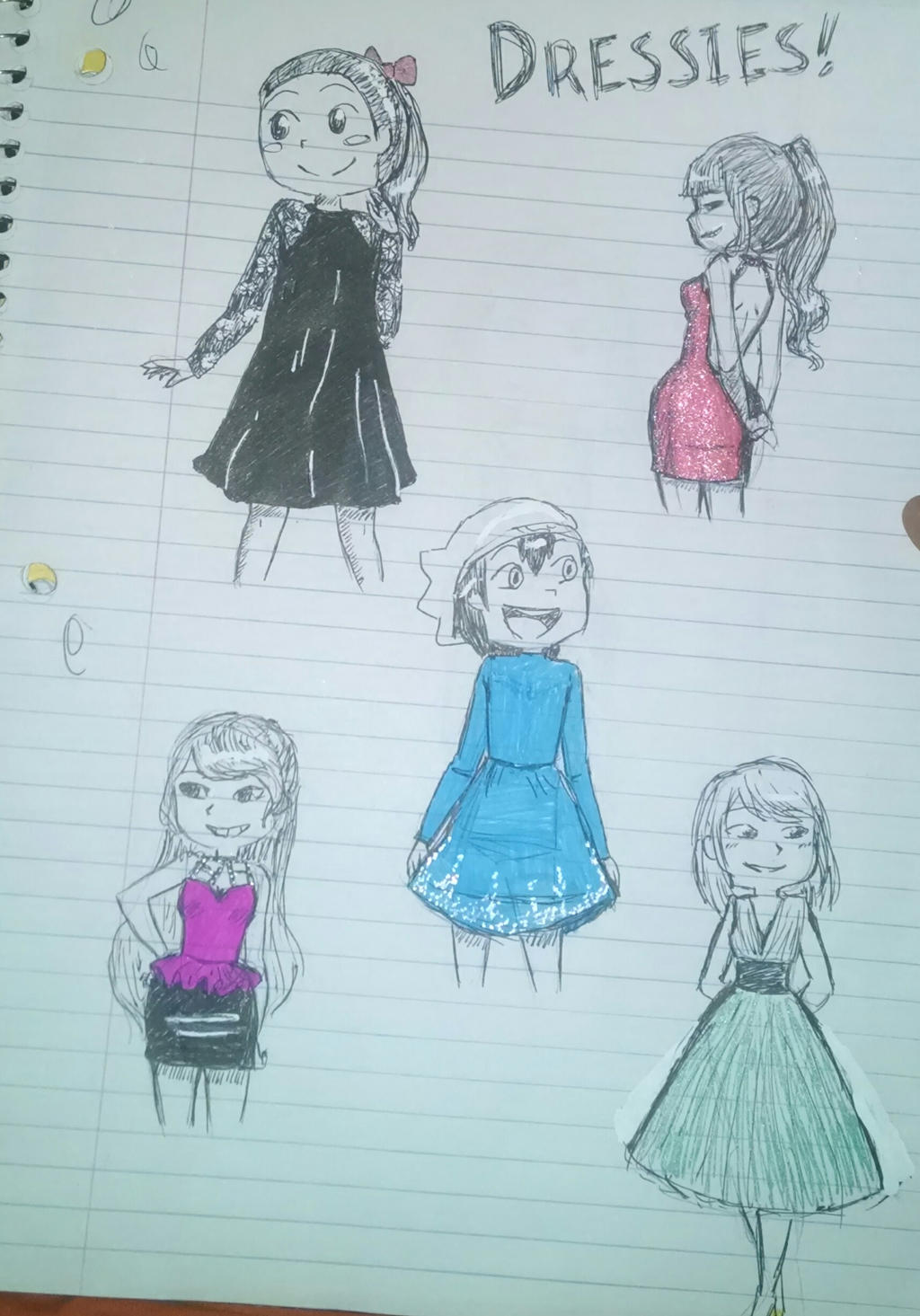 consolation dresses by MeowMix72