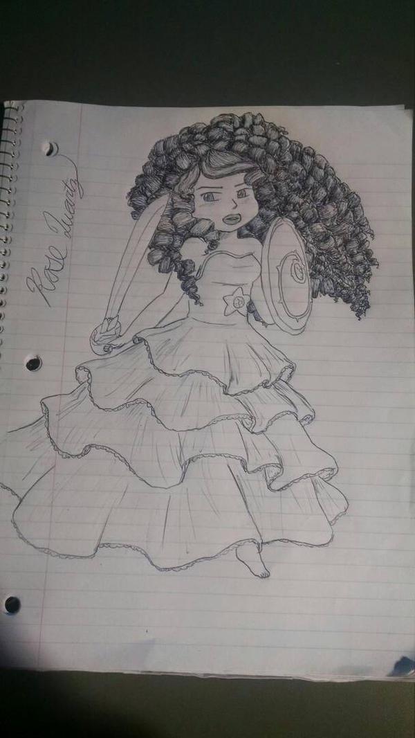 rose quartz doodle ish by MeowMix72