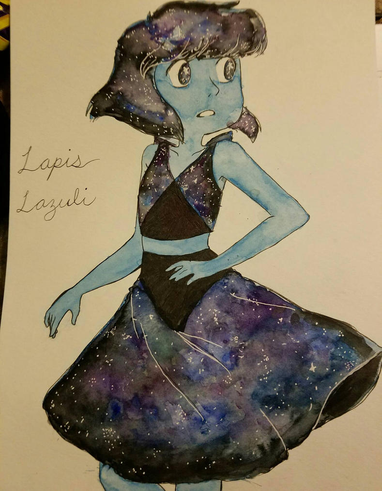 watercolor galaxy lapis lazuli by MeowMix72