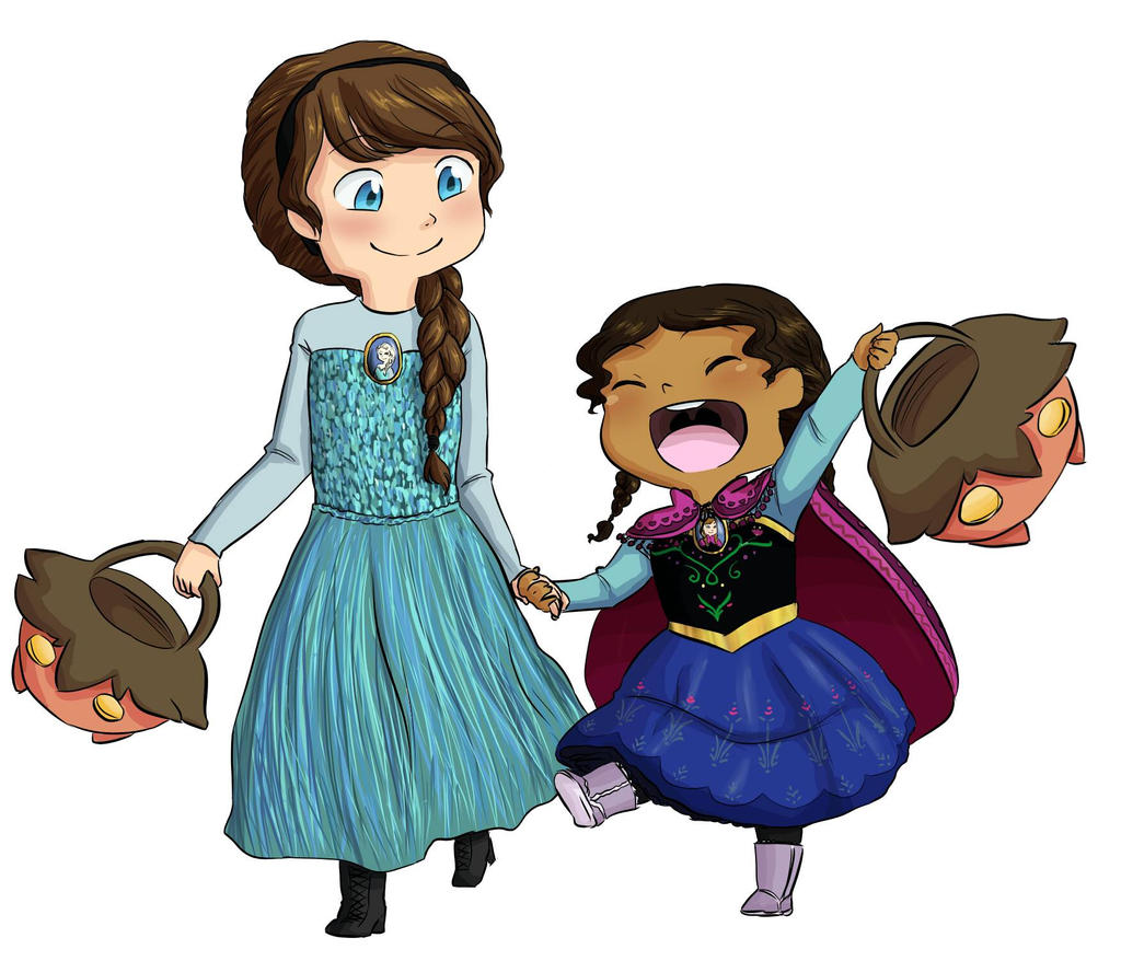 Evelyn and Naomi as Elsa and Anna by MeowMix72
