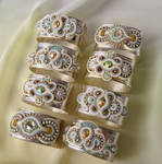 Napkin rings with  soutache