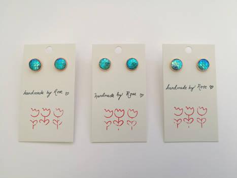 Cobalt Mermaid Earrings