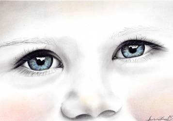 Pure Blue Eyes by vixenart